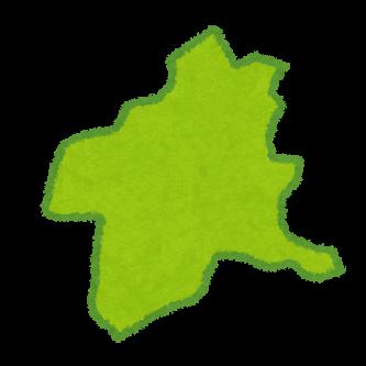 群馬県の地形イラスト